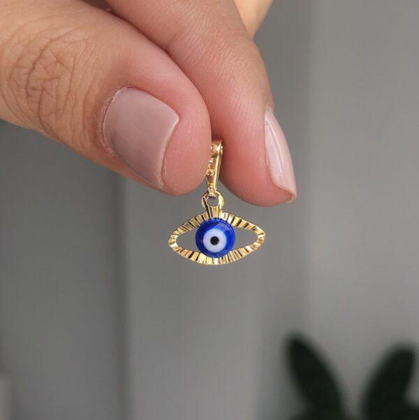 Dije Ojo Turco Azul 1.1x0.5cm_$45000