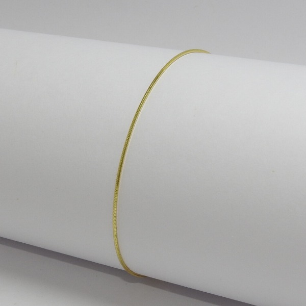 TOBILLERA ORO LAMINADO Tobillera Cola Raton 24.5cm