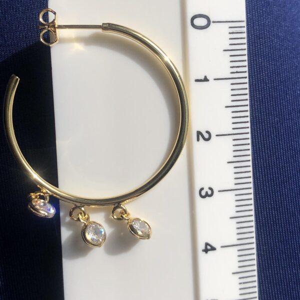 Candonga tres circonias 3.1cm_$60