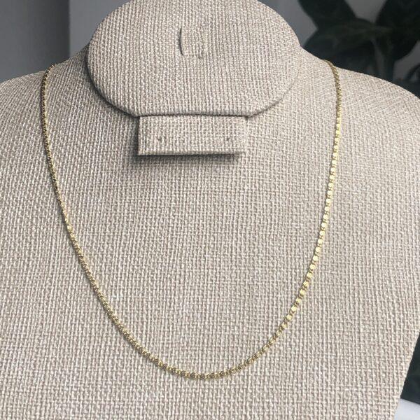 Cadena tejido caracol 0.15x45cm_$85