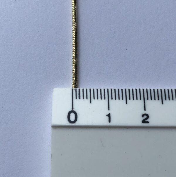 Cadena tejido serpiente 0.1x60cm_$160