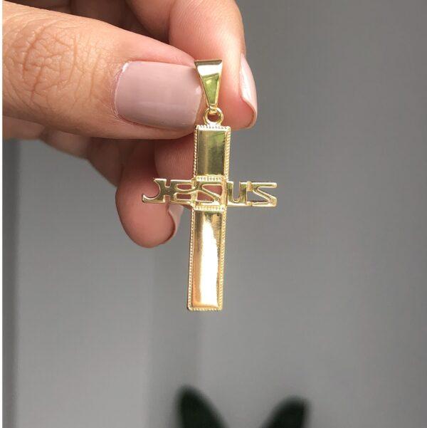 Dije Cruz Jesús 3x2.2cm_$70
