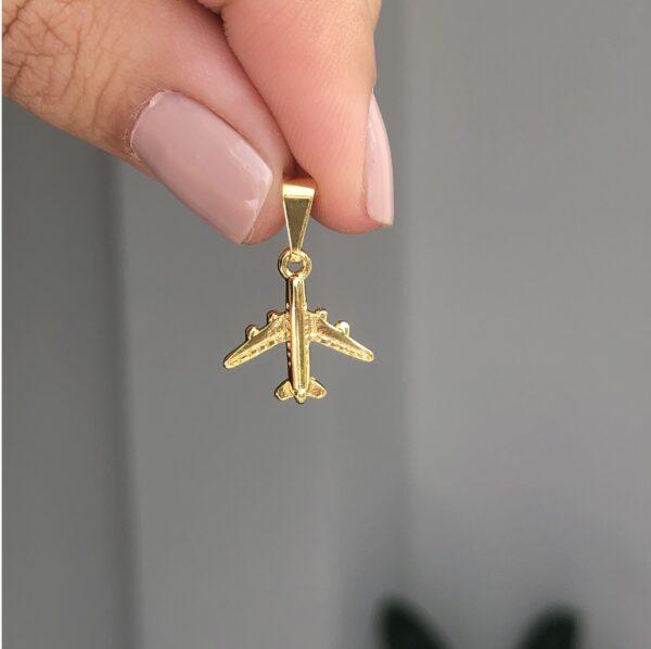 Dije Avión 1.3x1.4cm_$45