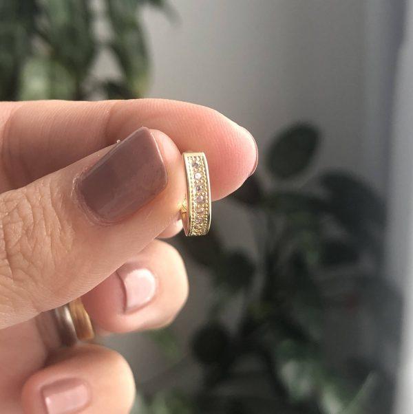 Canconga plana circonias 1.2cm_$65