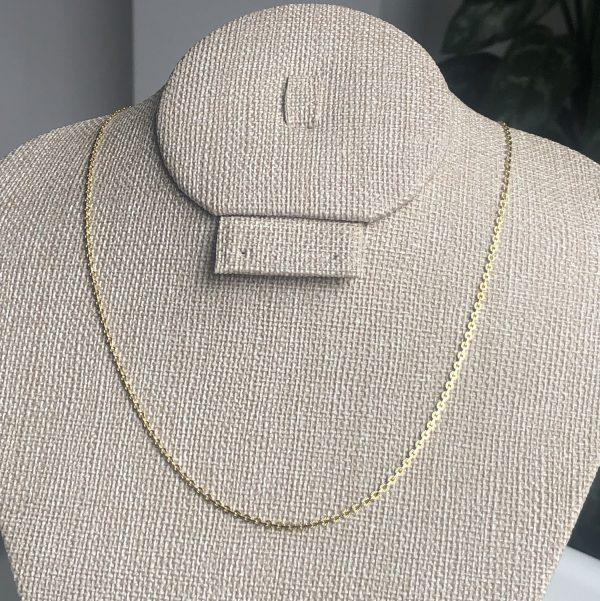 Cadena tejido en medallas 0.15x45cm_$80