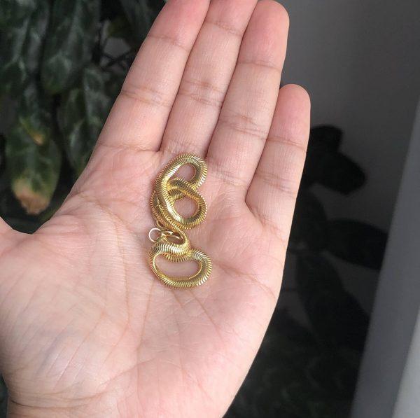 Pulsera tejido serpiente gruesa 0.4x20cm_$130
